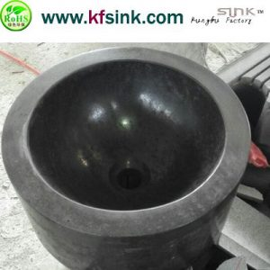 Blue Basalt Bathroom Sink In Round