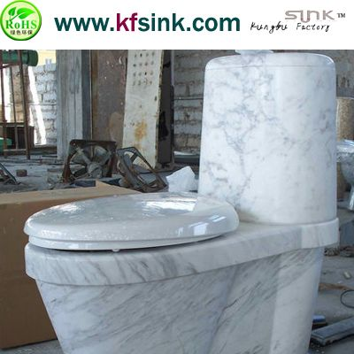 Import White Marble Stone Toilet