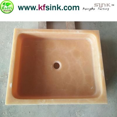 Yellow Onyx Stone Basin Bowl