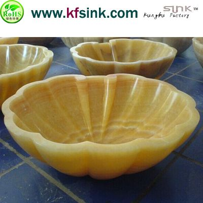 China Yellow Onyx Bar Sink