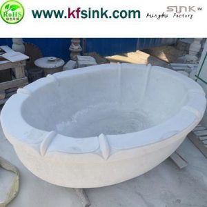 2018.11 White Marble Bathtub In Stock
