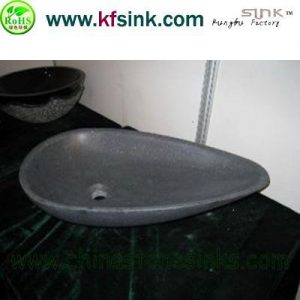Basalt Stone Sink All In Black Color?