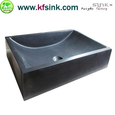 Honed Black Granite Sink For Kitchen