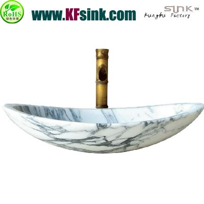 Arabescato Coccoha Marble Sink Bathroom