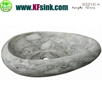 Pebble Style White Marble Sink