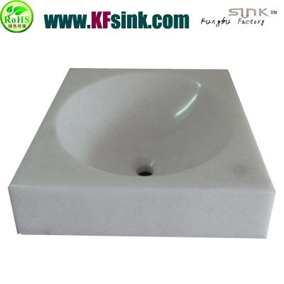 Pure White Marble Kitchen Sink