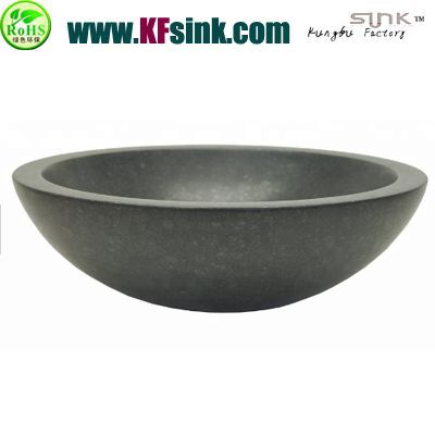 Round Grey Basalt Sink Bowl