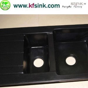 Black Stone Sink Bowl Application