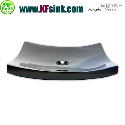 Black Oval Natural Stone Sink