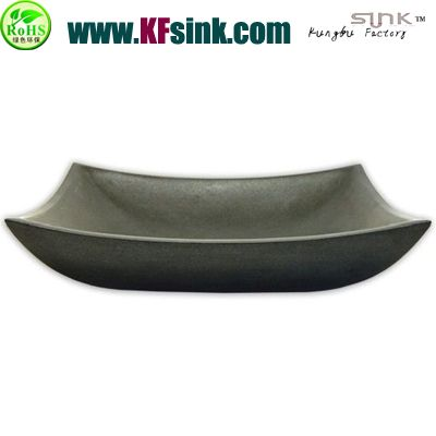 Oval Vessel Grey Basalt Sink