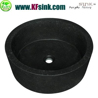 Pearl Black Basalt Round Sink Bowl