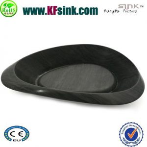 Black Marble Stone Bathroom Basin