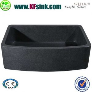 Black Quartz Stone Kitchen Sink