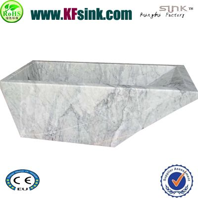 Rectangle Italy Carrara Marble Bathtub