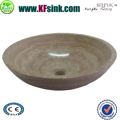 Bathroom Cream Travertine Sink Bowl