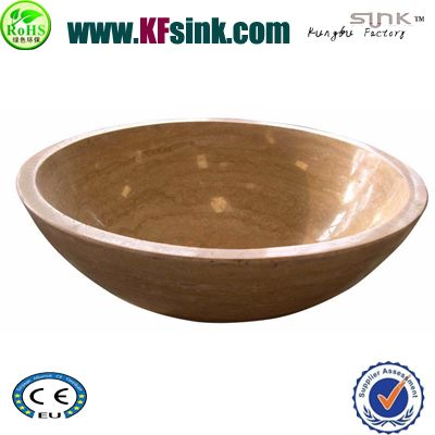 Beige Travertine Round Stone Sink
