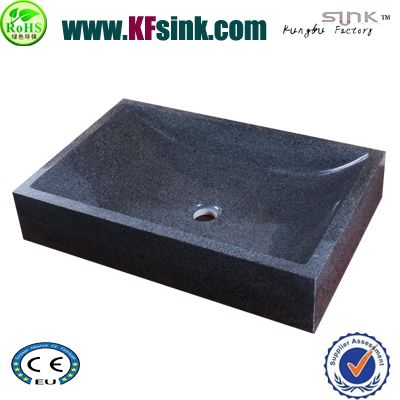 Dark Grey Granite Stone Sink