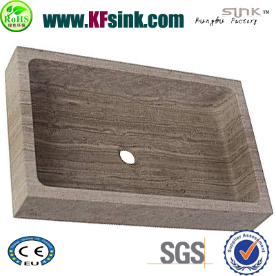 Coffee Wooden Stone Kitchen Sink