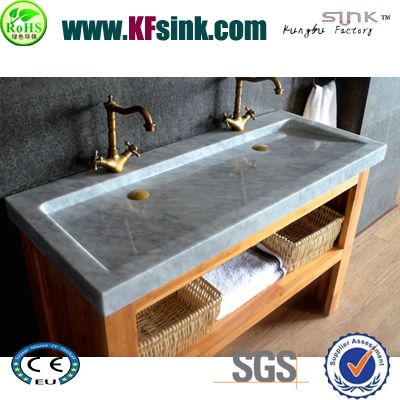 Flat Marble Bathroom Sink