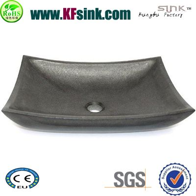 Ship Pattern Basalt Stone Vessel Sinks