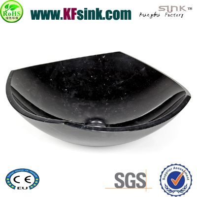 Polish Black Stone Vessel Sinks