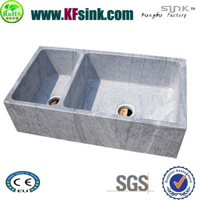 Wood Grey Marble Kitchen Sink