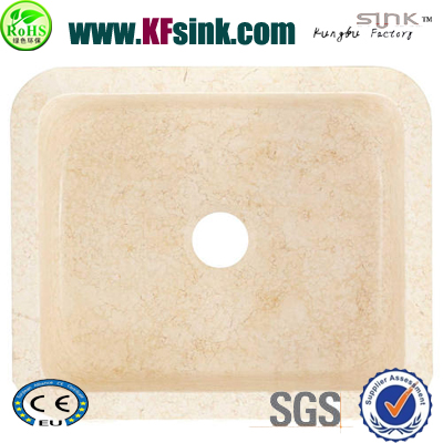 Beige Marble Bathroom Sink Square