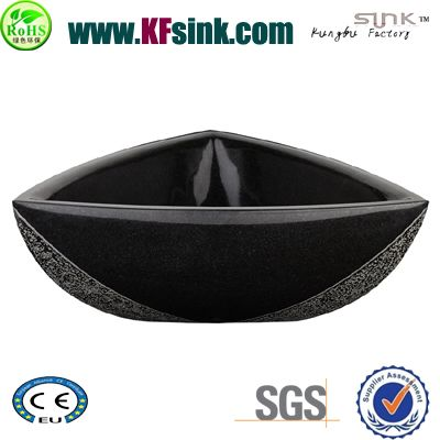 Triangle Black Granite Sink Bowl