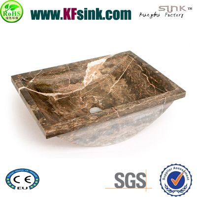 Brown Marble Sinks For Bathrooms