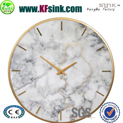 white marble wall clock with numbers