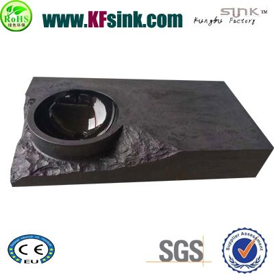 Big Size Black Marble Sink Bathroom