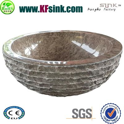 Emperador Brown Marble Sink Bowl