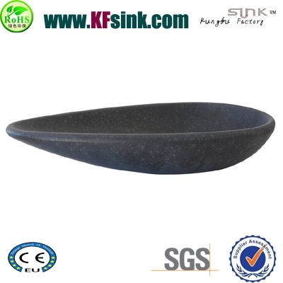 G684 Black Basalt Stone Vessel Sink