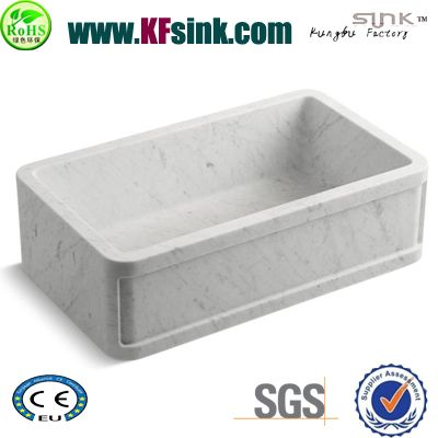 Greek White Marble Kitchen Sink