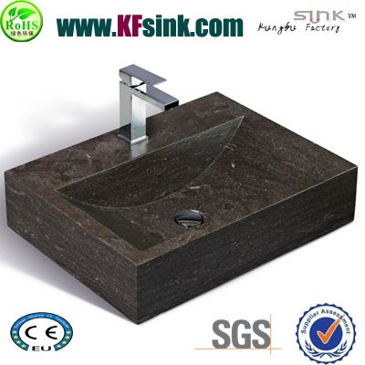 Rectangle Blue Limestone Sink Bathroom