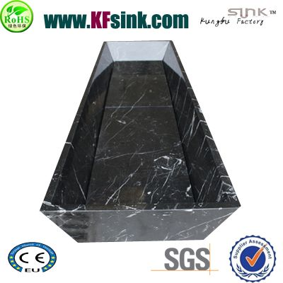 Rectangle Marquina Black Marble Bathtub