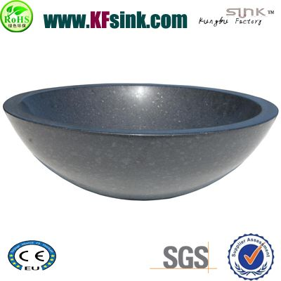 Round G684 Black Basalt Sink Bowl