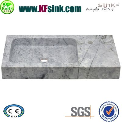 White Greece Marble Kitchen Sink