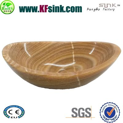 wooden yellow marble stone sinks for sale