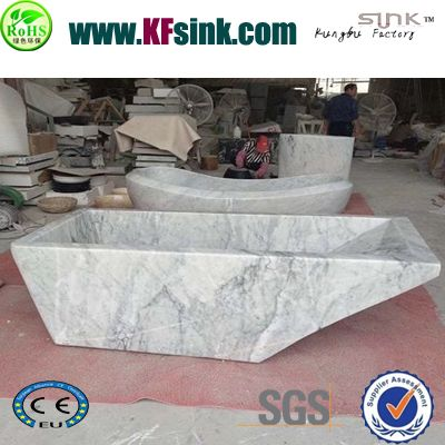Bianco Carrara White Marble Bathtub