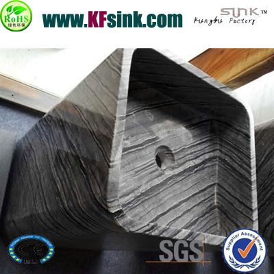 Free Standing Wooden Marble Wash Basin