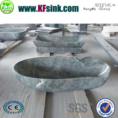 Green Marble Oval Sink Bowl