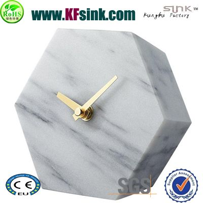 Carrara White Marble Clock