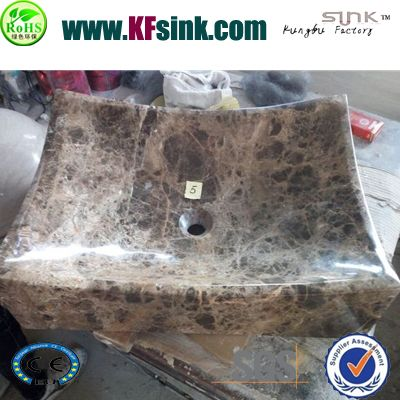 Dark Emperador Marble Wash Basin