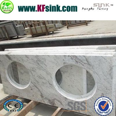 White Galaxy Granite Vanity Top