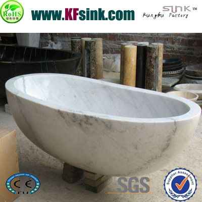 GX White marble bathtub surround