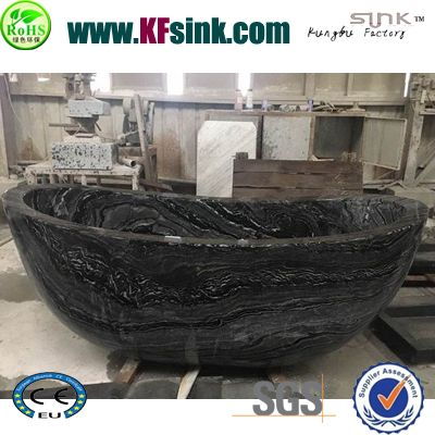 Black Serpeggiante Marble Bathtub