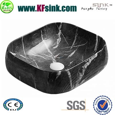 Gloss Marquina Black Marble Basin