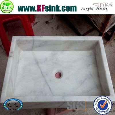 White Carrara Marble Basin