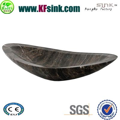 Dark Oval Marble Wash Basin